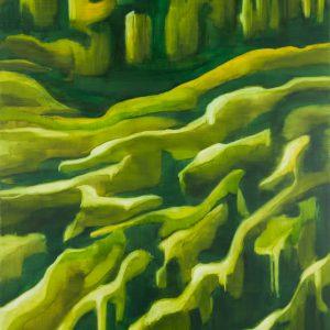 Koshikake Gebirge Ⅲ, 2017 | Oil on canvas | 250 × 210 cm