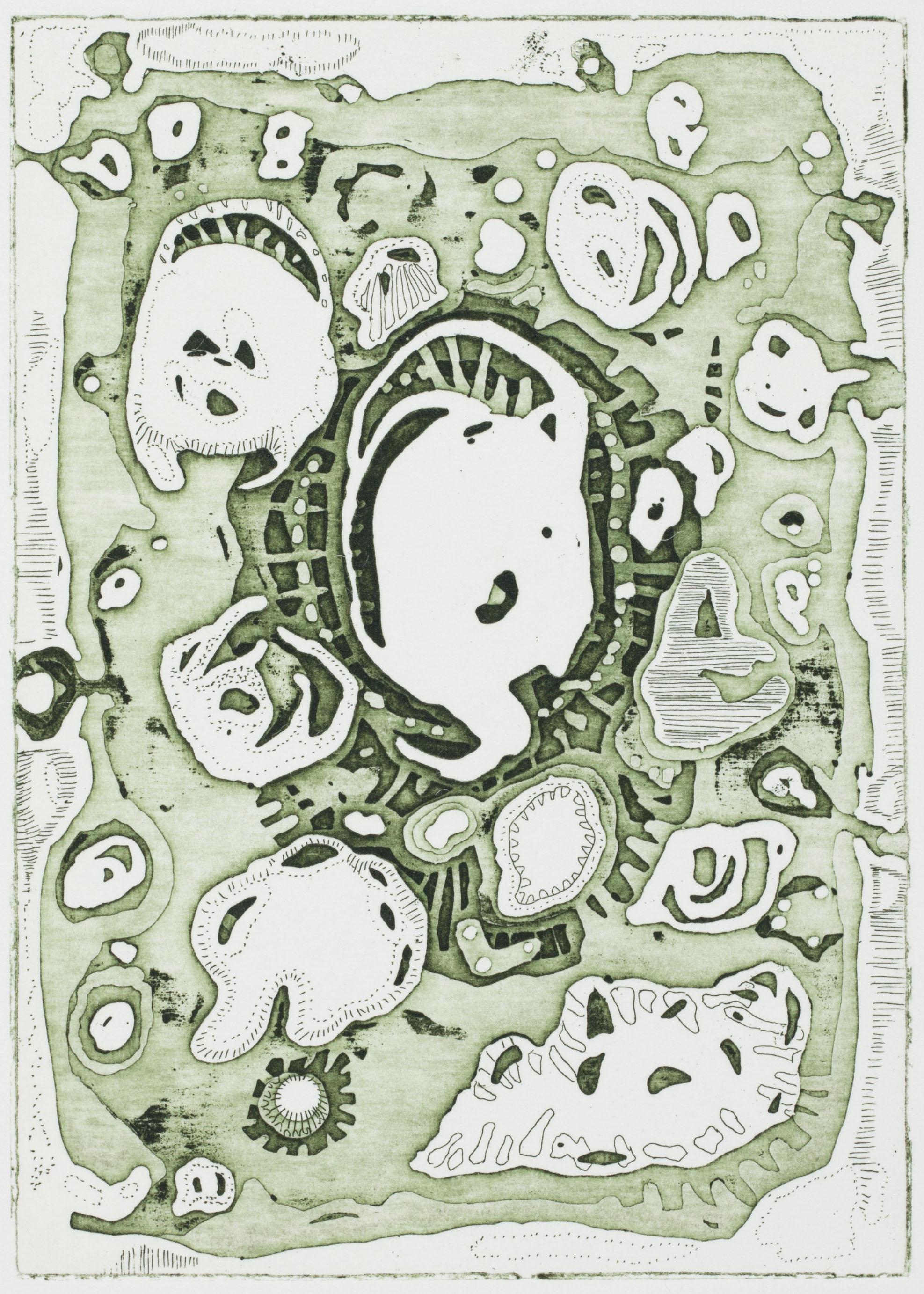 GuckfensterⅠ, 2016 | etching: open bite | 10 × 7 cm