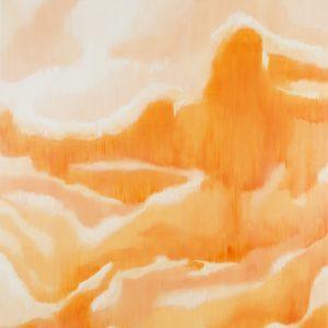 Rüschengebirge, 2017⎥Oil on canvasKoshikake Gebirge Ⅰ 250 × 210 cm