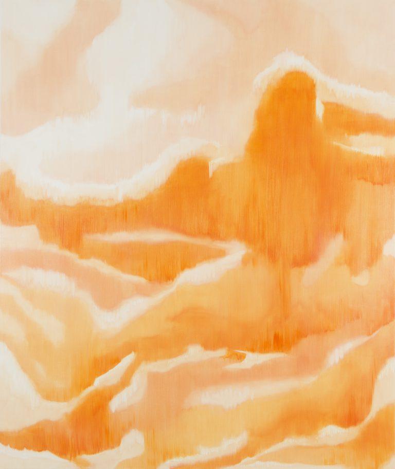Rüschengebirge, 2017⎥Oil on canvas Ⅰ 250 × 210 cm