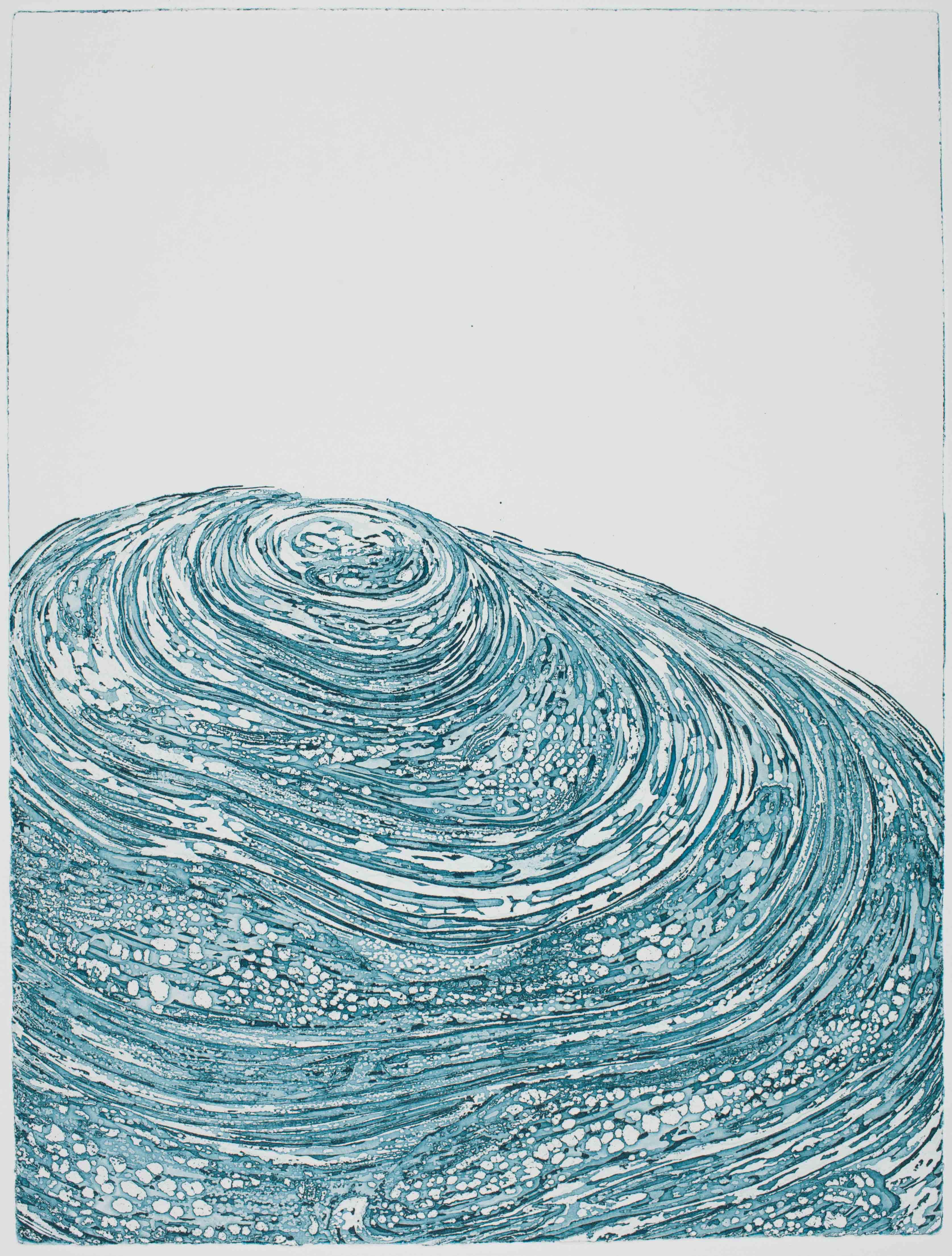 Strudeltapser Ⅱ, 2017 | etching: sugar lift, open bite | 24 × 21,2 cm