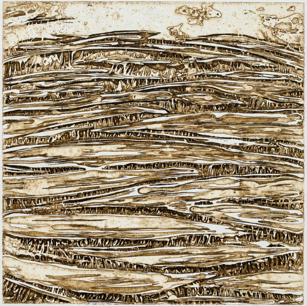 Wabengrotte, 2016 | etching: open bite | 25 × 25 cm