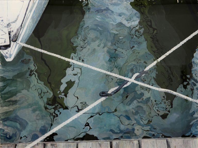 Slippery as an eel Ⅷ, 2011 | Acrylic on acrylic glass | 76,8 × 102,4 cm